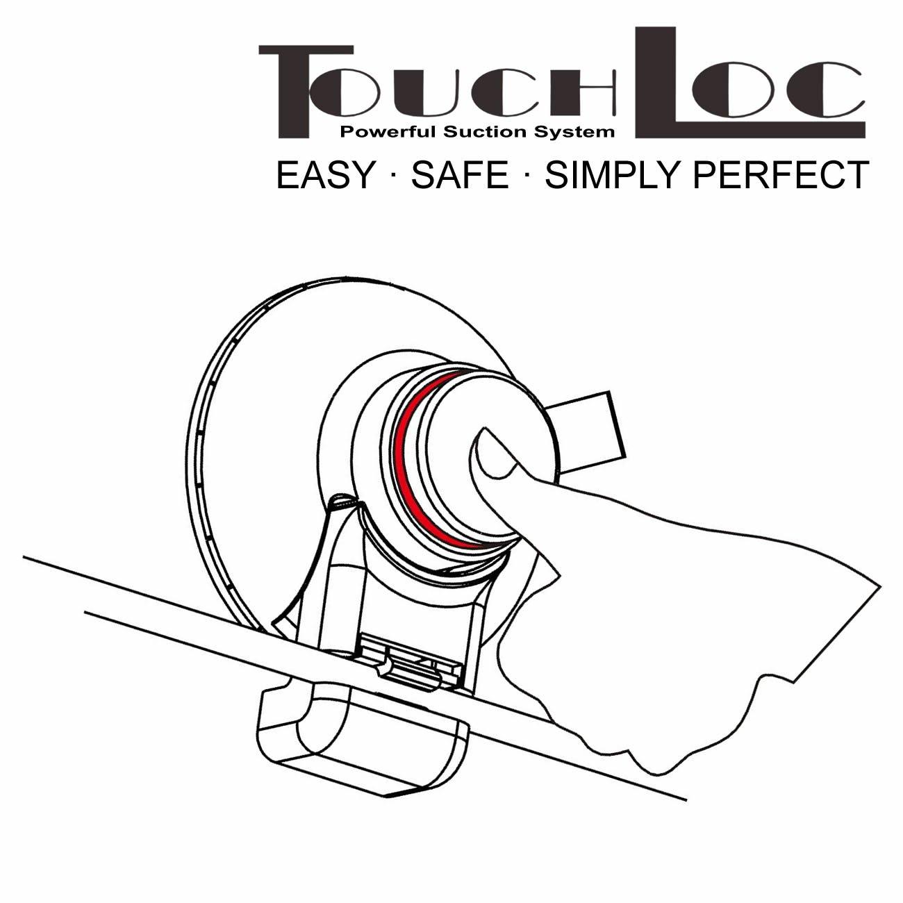 SMARDY Power TouchLoc Gancho Doble Ba/ño Ventosa Fijar sin taladrar f/ácil instalaci/ón Inoxidable