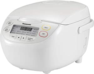 Panasonic SR-CN108 Rice Cooker, 5 Cup (Uncooked), White