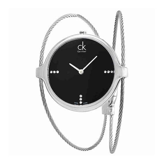 7588ecfb0de Calvin Klein Agile Diamond Black Dial Ladies Watch K2Z2M11S  Amazon.ca   Watches