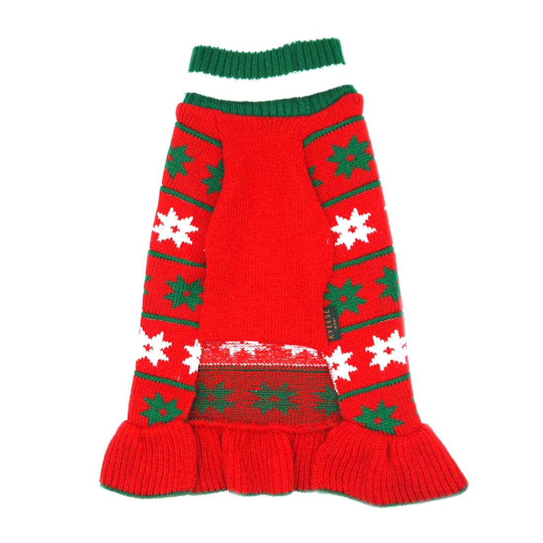 kyeese Christmas Dog Sweater Turtleneck Dogs Pullover Knitwear with Leash Hole Fall Winter Warm Pet Sweater Cat Sweater
