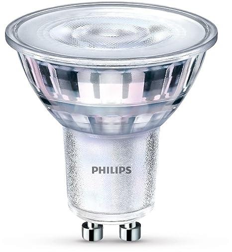 Philips 929001221001 - Bombilla LED, luz cálida, casquillo GU10, consume 5 W (equivalente a 50 W), regulable