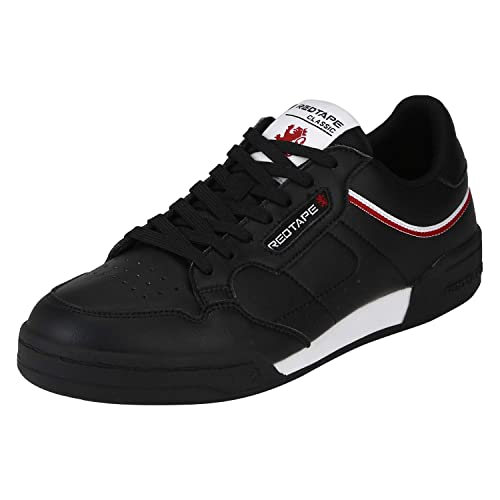 Red Tape Men's Rts11331 Black Sneakers