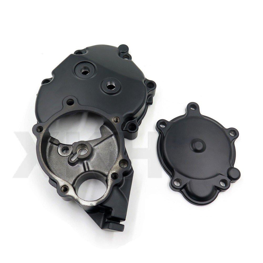 XKH Group Engine Starter Case Crankcase Cover For Kawasaki Ninja ZX10R 06-10 Black US