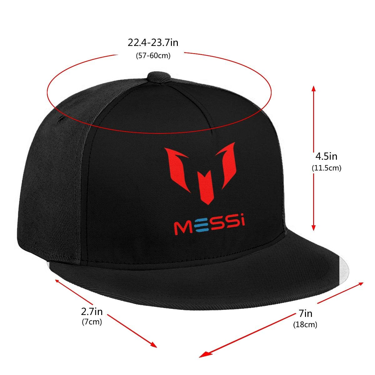 Unisex Adjustable Baseball Caps Lio-nel-Me-SSI-Red-Logo Skull Cap