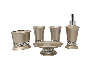 Accessori Bagno Marrone : Starail pezzi set di accessori da bagno con pura marrone con