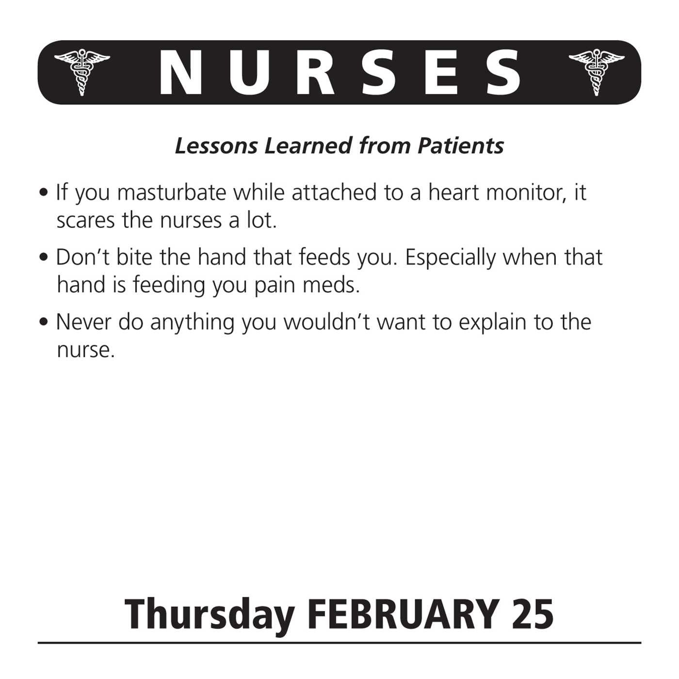 nurses day to day calendar jokes quotes and anecdotes nurses 2016 day to day calendar jokes quotes and anecdotes andrews mcmeel publishing llc 0050837342415 com books