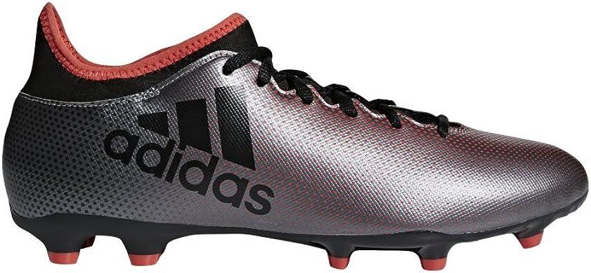 adidas X 17.3 FG, Chaussures de Football américain Homme, Gris (GreyCblackReacor 000), 40 EU