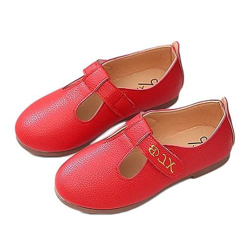 64140b28edc13 CYBLING Girls Strap Mary Jane Flats Soft Sole School Uniform Oxford ...