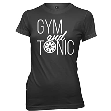 2cd83f682 Daytripper Clothing Gym Tonic Womens Ladies Funny Slogan T-Shirt: Amazon.co. uk: Clothing