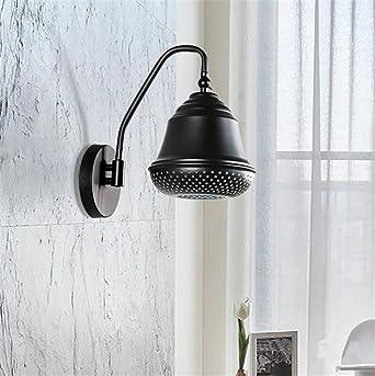 Applique Murale Mur Lumiere Interieur Moderne Noir Couleur Fer Forge