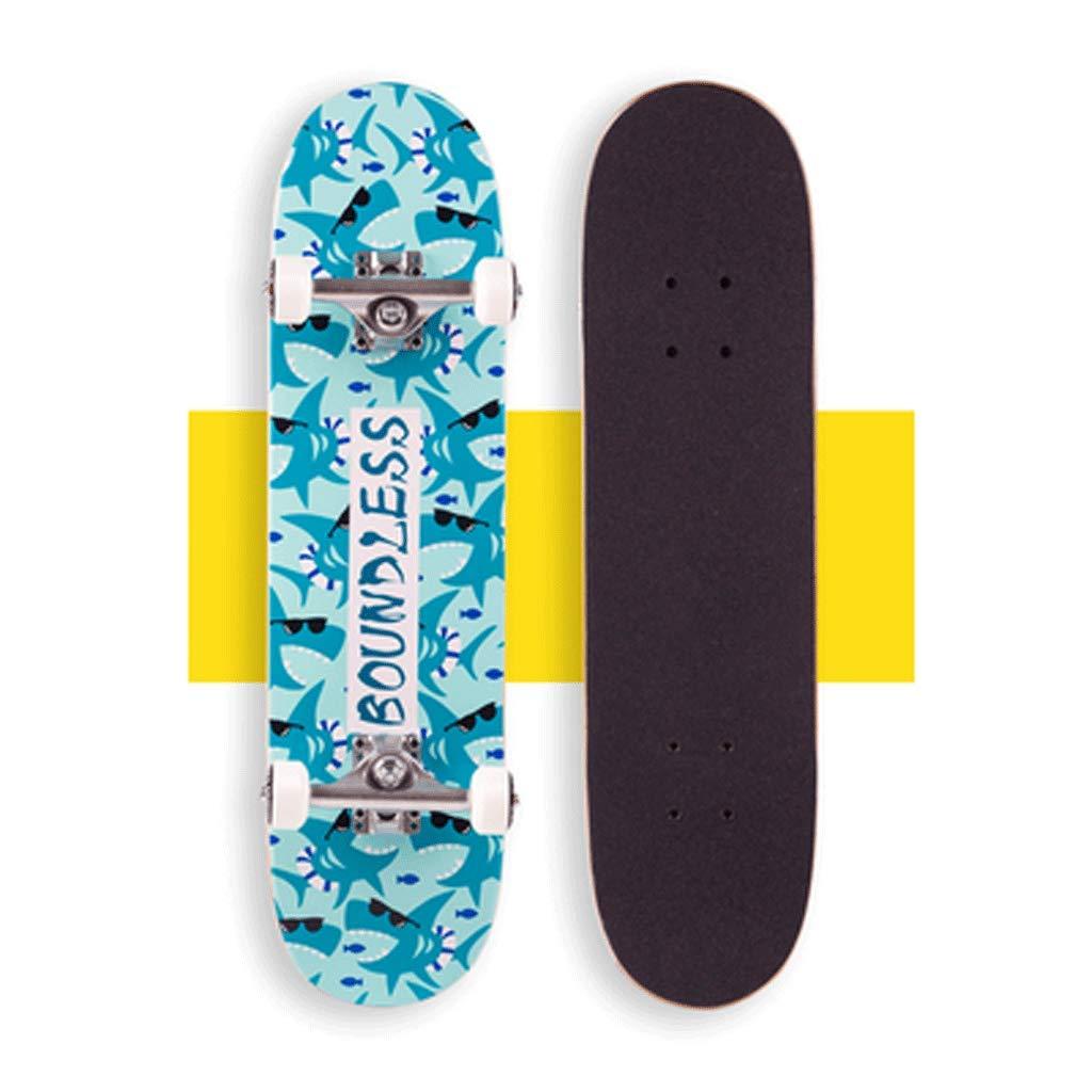 【正規品質保証】 子供の四輪二重スケートスケートボードビブラートの男性と女性の青年の初心者ハイウェイストリートエントリーボード Light (色 : Light blue shark) B07L5LLZHS Light blue blue shark) shark, コウデラチョウ:39f31323 --- a0267596.xsph.ru