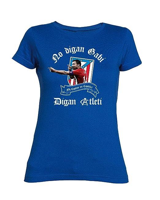 Camiseta Chica del ATLÉTICO DE Madrid NO DIGAN Gabi 1687b7cef6405