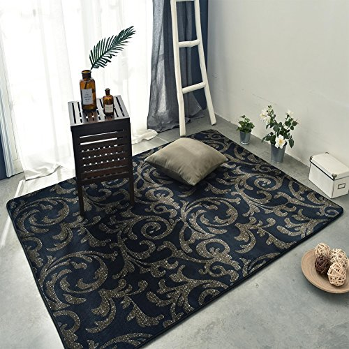 SQINNA Large Printed Non-Skid Area Rug,Soft Carpet for Hardwood Floor Living Room Bedroom Kitchen Bathroom Modern mat-T 190x190cm(75x75inch) ()