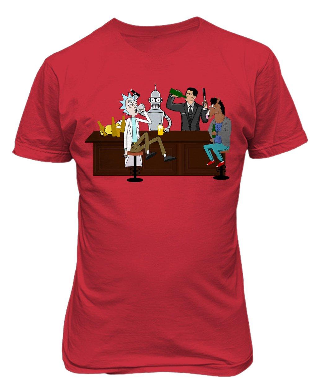 413d69991196d0 Amazon.com  KINGS SPORTS Drinking Buddies Rick Morty Premium Funny Men s T- Shirt  Sports   Outdoors