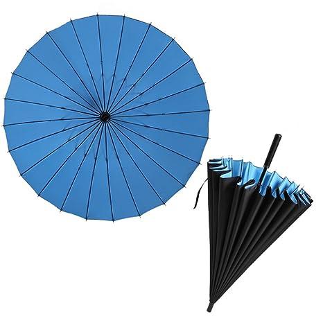 Guoke Doble Negro Creativo Personalizado 24 Long-Handled Paraguas Grandes Hombres Lo Escabroso Del
