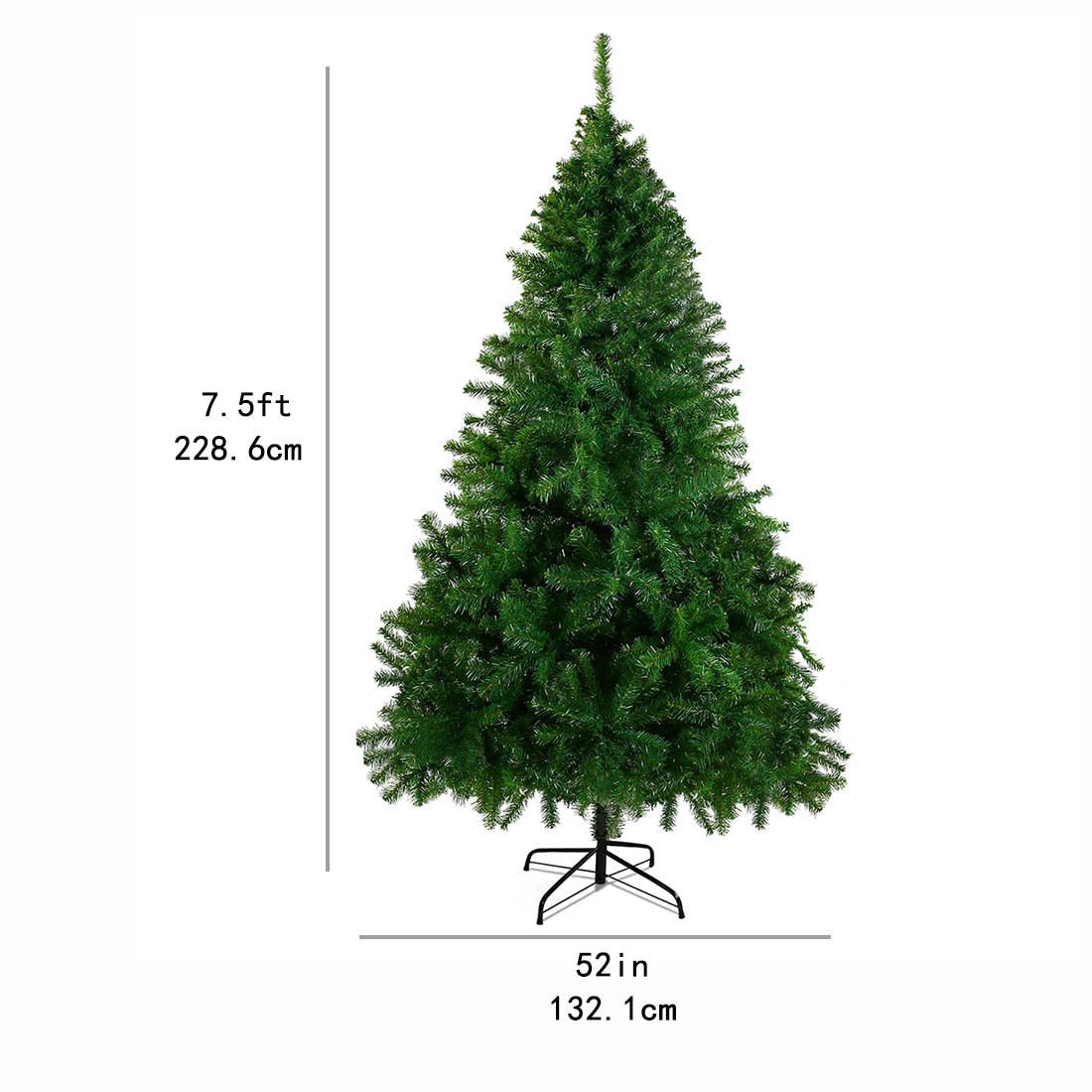 7.5'Premium Christmas Tree Spruce Hinged Artificial Christmas Tree W/ Stand by Unknown