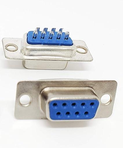 10pcs D-SUB 9 Pin DB9 Female Solder Type Socket Connector LAU/_fr