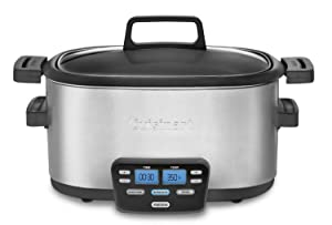 Cuisinart MSC-600FR Cuisinart MSC-600FR 3-In-1 Cook Central 6-Quart Multi-Cooker: Slow Cooker, Brown/Saute, Steamer (Certified Refurbished), Silver