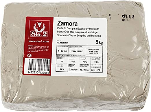 grogged cer/ámica arcilla Sio2/Zamora blanco