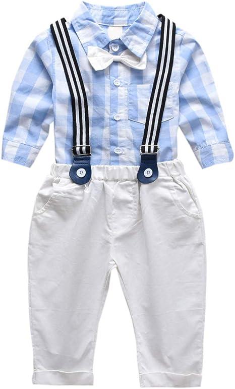 Chennie 1-6 años niños Corbata de Lazo Camisa Tirantes Pantalones ...
