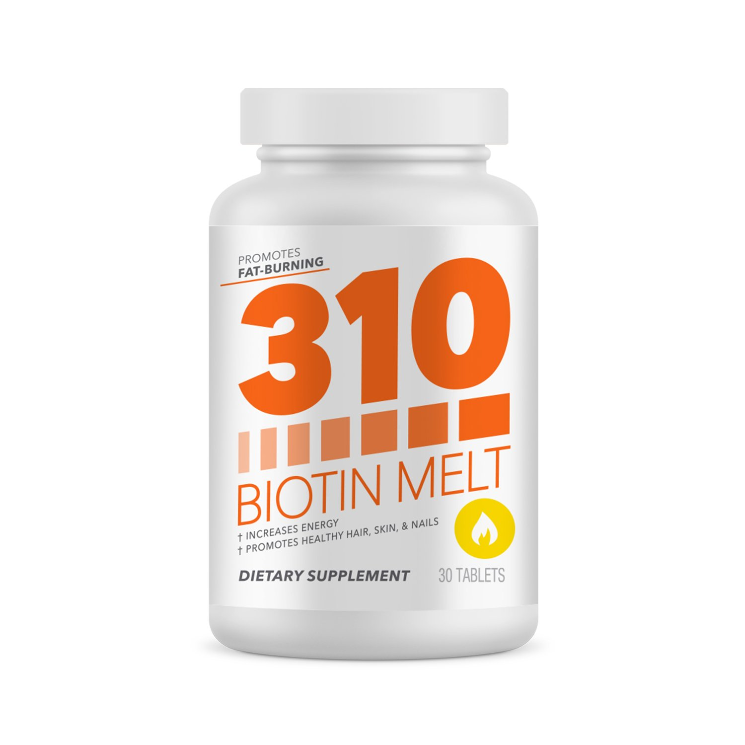 Biotin 10,000 mcg High Potency | 310 Biotin Natural Melting and Dissolving Tablet Helps with Hair Growth, Improved Skin Care, Supports Nail Growth and Improves Energy Levels
