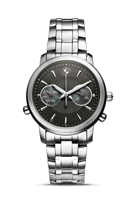 Original BMW Damen Armbanduhr Uhr Silber - schwarz