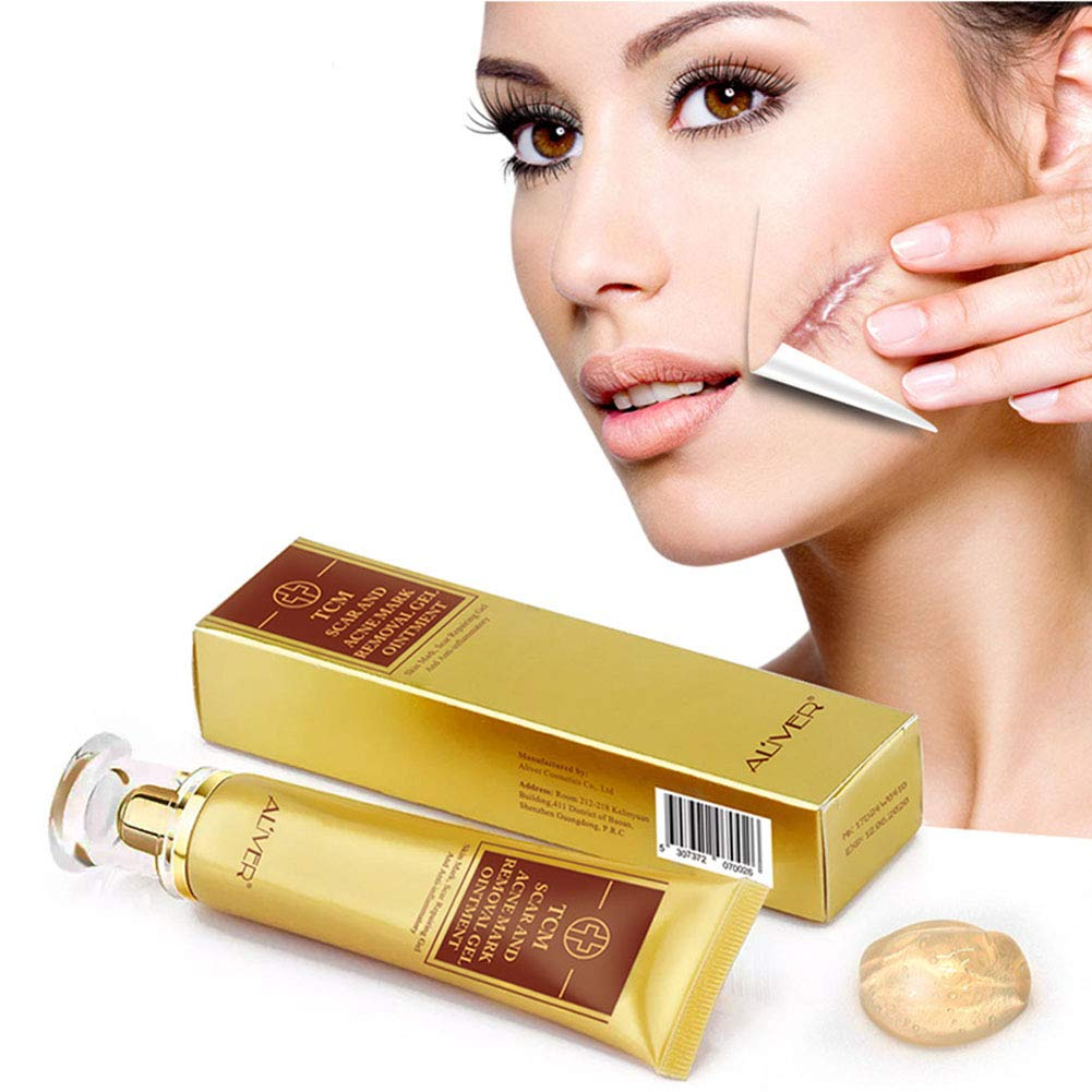 TCM Scar Cream Acne Scar Removal Cream Scar Acne Repairing Gel Skin Repair Cream For Stretch Marks/Burn Scar/Cut Scar/Surgical Scar - 30g Beauty Kate