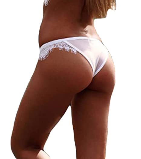 54fd67bd703d Zaaale Women' s Sexy See Through Lace Thongs G-String Lingerie Underwear V-String  Panties Knickers at Amazon Women's Clothing store: