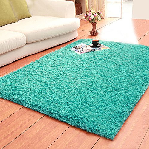 LOCHAS Ultra Soft Indoor Area Rugs Fluffy Living Room Carpets Suitable for Children Bedroom Home Decor Nursery Rugs 4 Feet by 5.3 Feet (Kids Accent Rugs)