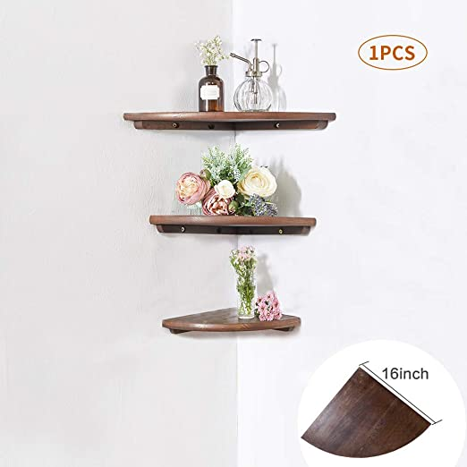 Home Decor Floating Wall Shelves Corner Ledge Shelving Storage Shelf Display USA