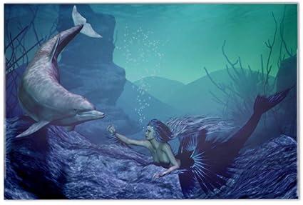 Weaeo delfini d pavimentazione piastrelle pittura camera da letto