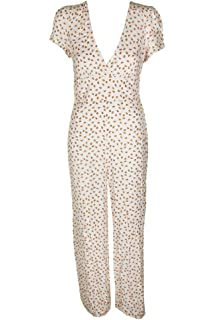 675391f3fef4 Amazon.com  Free People Women s Work It Jumpsuit Ivory Small  Clothing