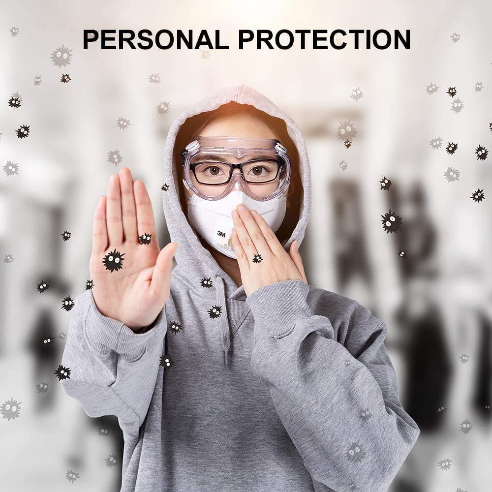 gafas resistentes a los virus Antiniebla Gafas Gafas protectoras de los ojos Gafas transparentes y livianas para ORSEN Gafas de seguridad Gafas protectoras Gafas protectoras de seguridad