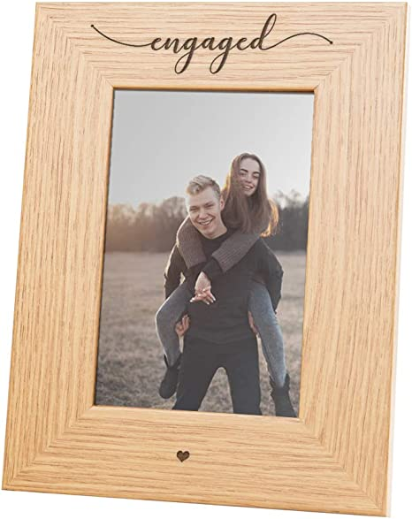 Rustic ENGAGEMENT gifts for Couple Personalized Engagement Gift for Couple Engagement Frame Engagement Party Gift Newly engaged Couple Gift
