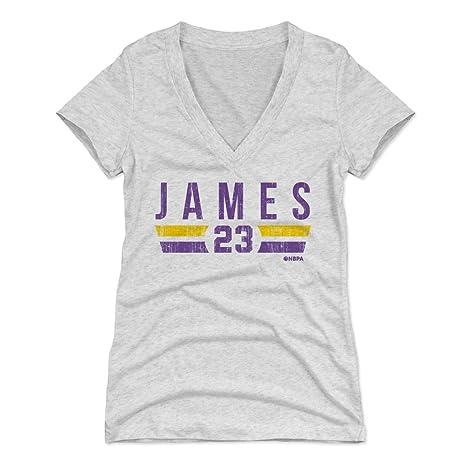 500 LEVEL LeBron James Women s V-Neck Shirt Small Tri Ash - Los Angeles  Basketball 9f85ad443