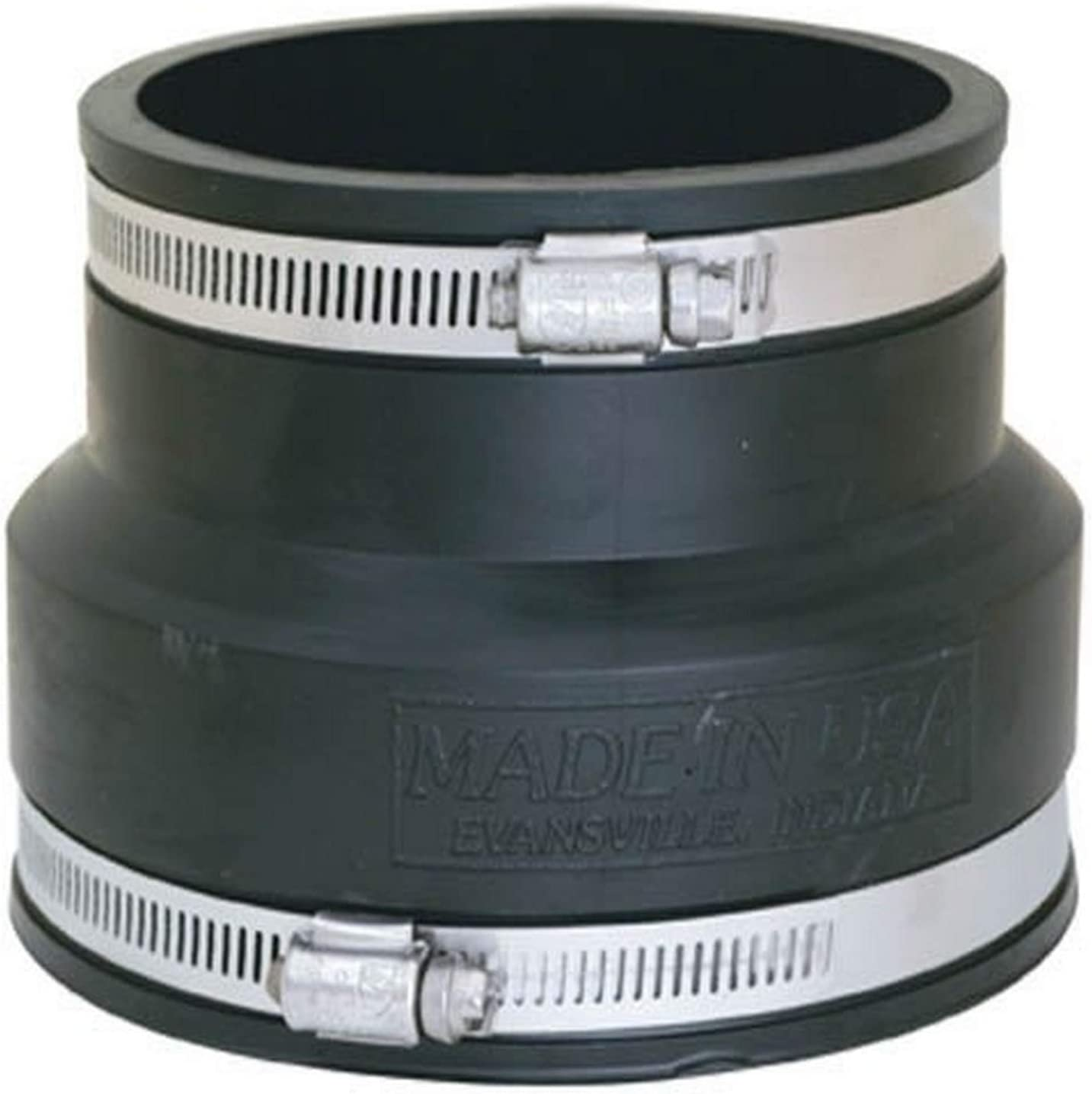 Eastman 86011 Flexible Coupling with Stainless Steel Clamps 6 x 4 Black