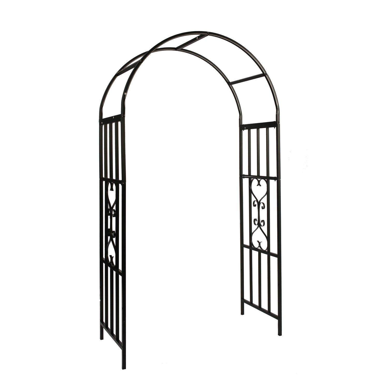 1.Go Steel Garden Arch, 6'9'' High x 3'9'' Wide, Garden Arbor for Various Climbing Plant, Outdoor Garden Lawn Backyard