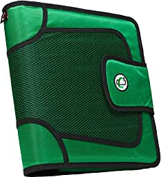 Case-it Open Tab Velcro Closure 2-Inch Binder with Tab File, Green, S-816-GRE