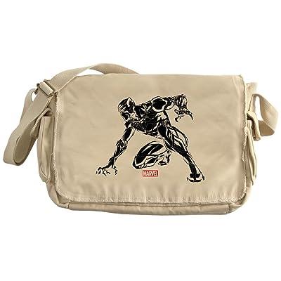 CafePress - Black Panther Claw - Unique Messenger Bag, Canvas Courier Bag