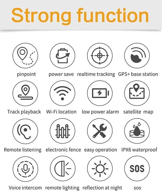 WYXIN Rastreador GPS para Mascotas para Perros y Gatos medianos ...