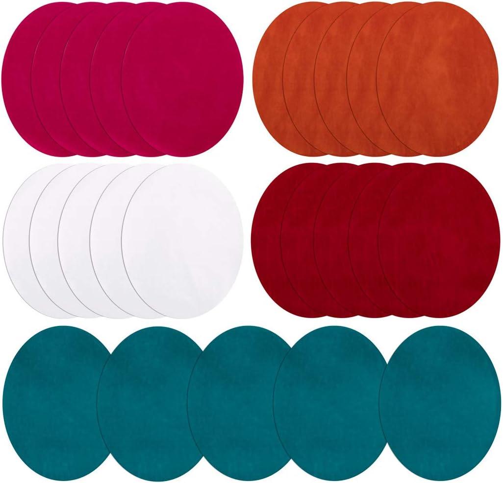 Parches para planchar, 25 parches para tela, 25 colores para codo ...