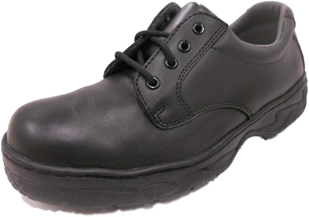 Grabbers Mens 2325 Plain Toe Oxford Slip Resistant Work Shoes