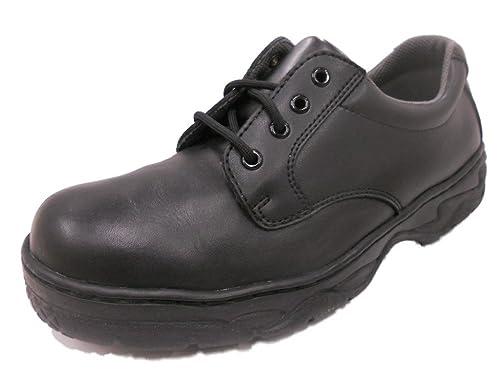 Grabbers Men's Slip-Resistant ... Oxford Work Shoes rug38z