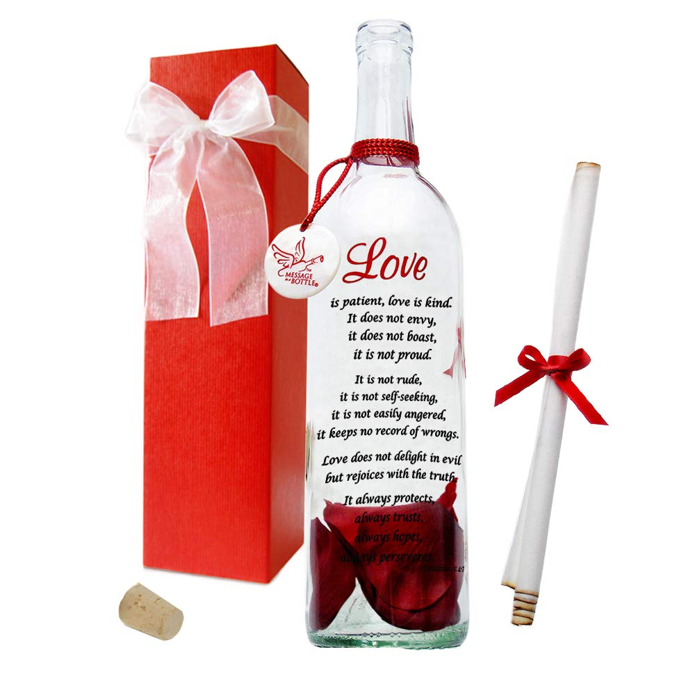 Message In A Bottle ® ''LOVE'' Personalized Gift for Him or Her by Message In A Bottle