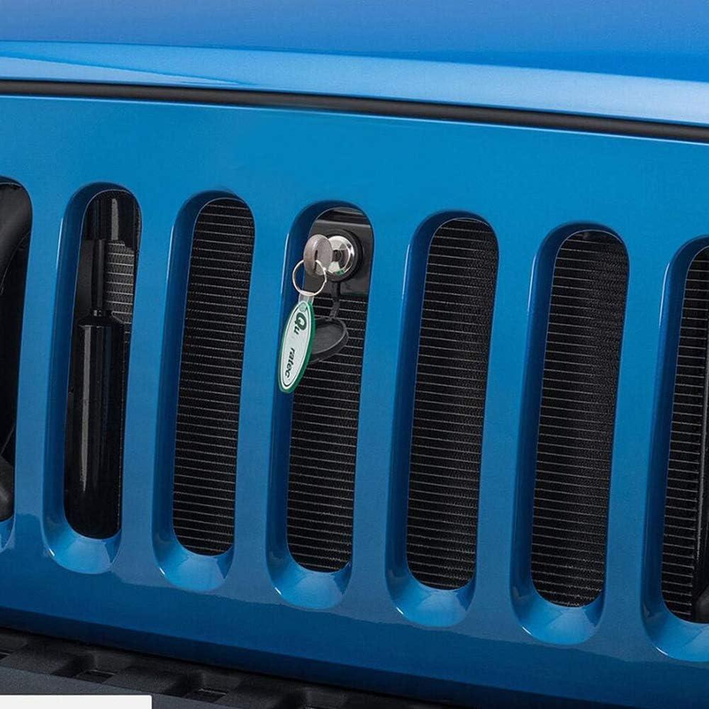 LAUTO Couvercle de Capot de Compartiment Moteur Avant Kit de Verrouillage de Verrouillage de Grille antivol avec cl/é pour Jeep Wrangler JK 07-17