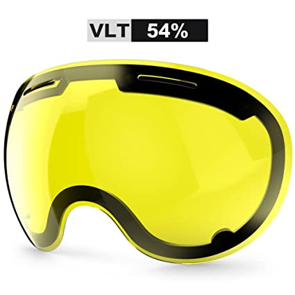 9f1a40670f Image Unavailable. Image not available for. Color  ZIONOR X5 Ski Snowmobile  Snowboard Snow Goggles with UV400 Protection Anti-Fog Oversized Spherical  for