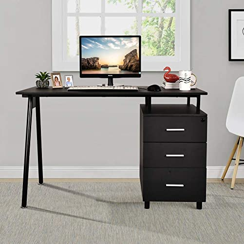 Haverchair Home Office Study Writing Metal and Wood Desk Modern Style Computert Laptop Table