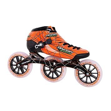 TEMPISH Atatu Patines en Línea de Velocidad Profesionales, Unisex niños, Naranja, 22.8 cm: Amazon.es: Deportes y aire libre
