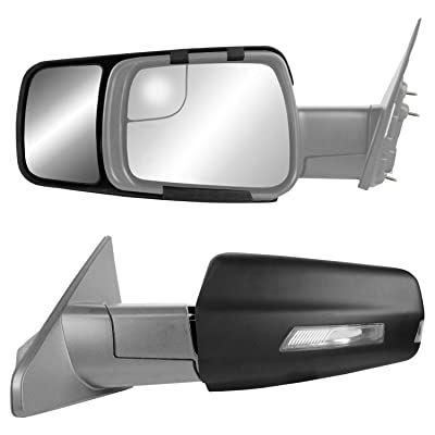 K Source 80730 Snap & Zap Custom Fit Towing Mirror for Dodge Ram 1500 Non-Classic Models (2020+), Pair: Automotive