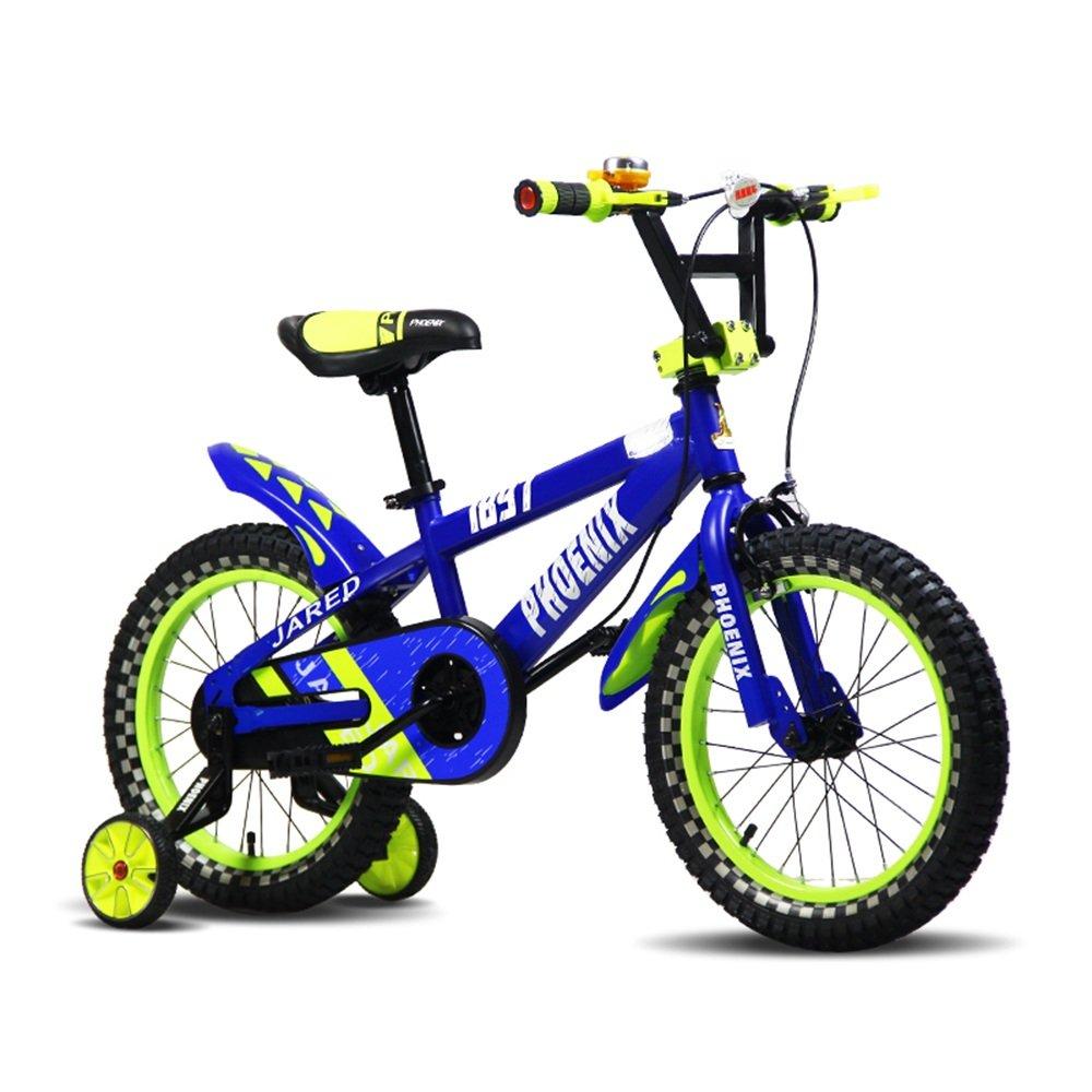 PJ 自転車 青いオレンジのバイクキッドバイク38歳の男の子と女の子安定して安全に乗る 子供と幼児に適しています ( 色 : 青 ) B07CQSYNCN 青 青